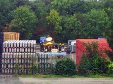 22.09.2012 - Oktoberfest-Festwagen der Paulaner-Brauerei ist fertig. (wird hergerichtet auf dem Paulaner Gelände)