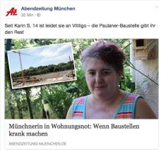 """""""Die Paulaner-Baustelle gibt ihr den Rest"""" http://www.abendzeitung-muenchen.de/inhalt.baustelle-macht-sie-krank-muenchnerin-in-wohnungsnot-nur-platz-fuer-millionaere.1e087c55-20a1-417c-818e-5ef52517be50.html https://www.facebook.com/abendzeitung.muenchen/posts/1255740531221645"""