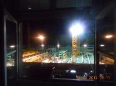Grelles Licht von der Baustelle ab ca. 6 Uhr morgens